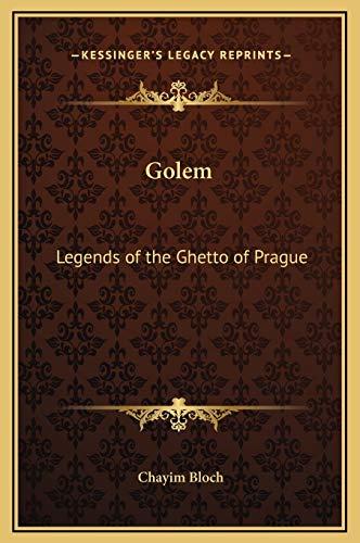 9781169300583: Golem: Legends of the Ghetto of Prague