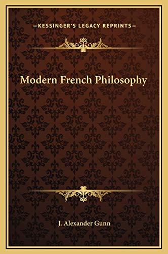 9781169301504: Modern French Philosophy