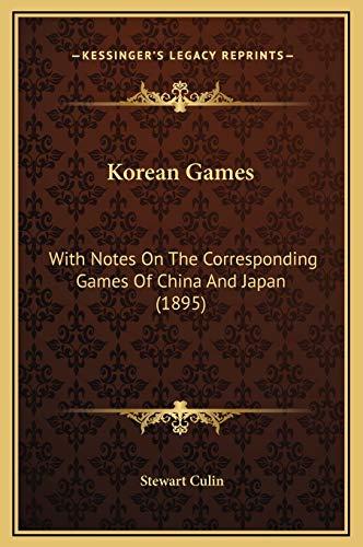 9781169303690: Korean Games