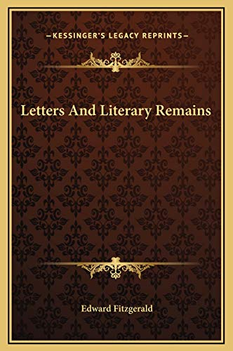 9781169307223: Letters And Literary Remains