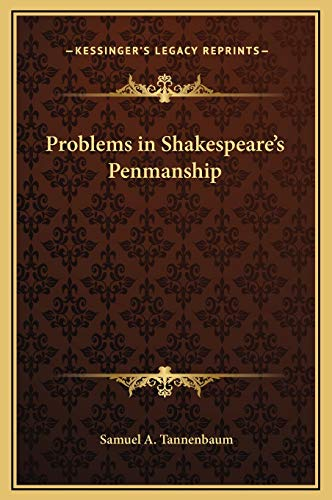 9781169309708: Problems in Shakespeare's Penmanship