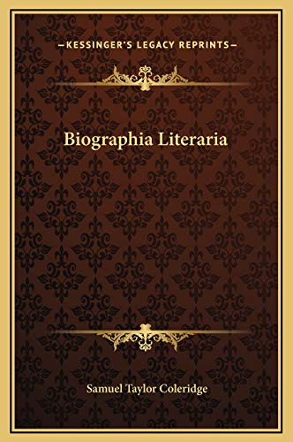 9781169313880: Biographia Literaria