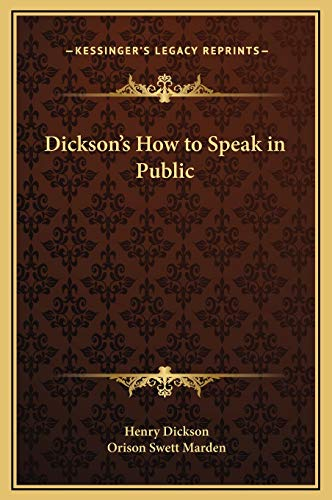 9781169317581: Dickson's How to Speak in Public