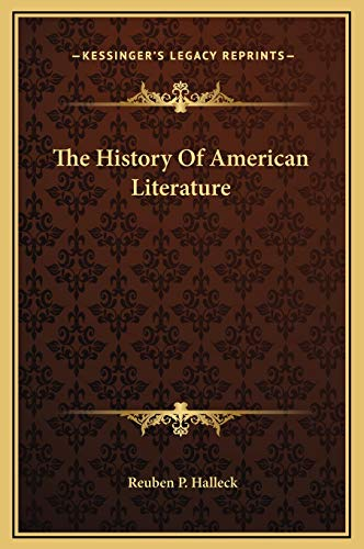 9781169320765: The History Of American Literature