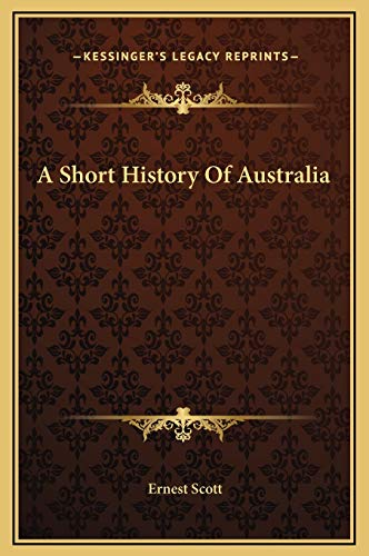 9781169325616: A Short History Of Australia