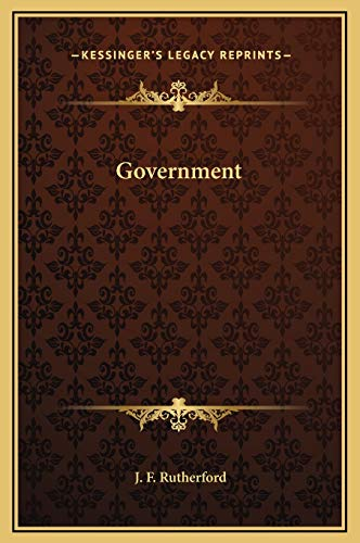 9781169329355: Government