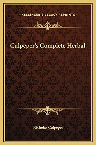 9781169331242: Culpeper's Complete Herbal