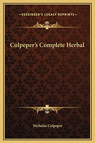 9781169331242: Culpeper's Complete Herbal