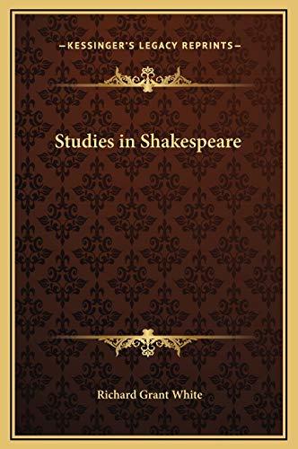 9781169334878: Studies in Shakespeare