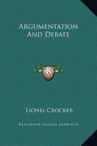 9781169340169: Argumentation And Debate
