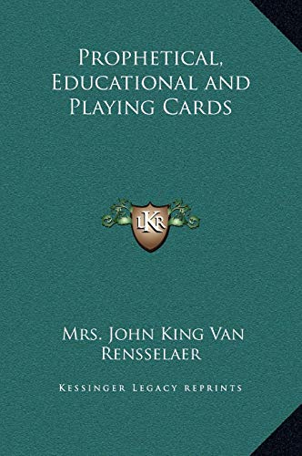 9781169340794: Prophetical, Educational and Playing Cards