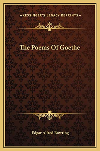 9781169364370: The Poems Of Goethe