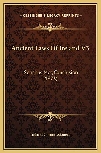 9781169374942: Ancient Laws Of Ireland V3: Senchus Mor, Conclusion (1873)