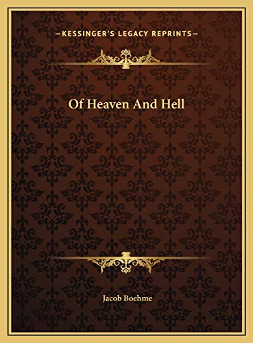 9781169415669: Of Heaven And Hell
