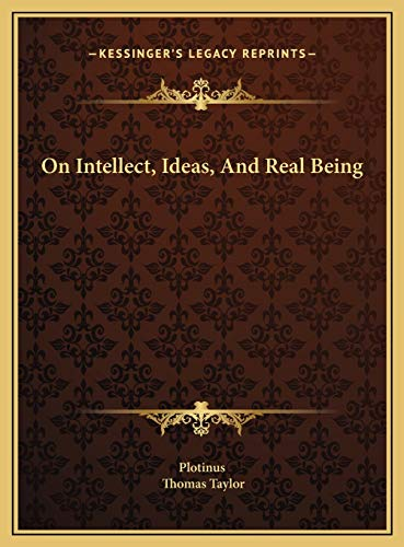9781169415867: On Intellect, Ideas, And Real Being