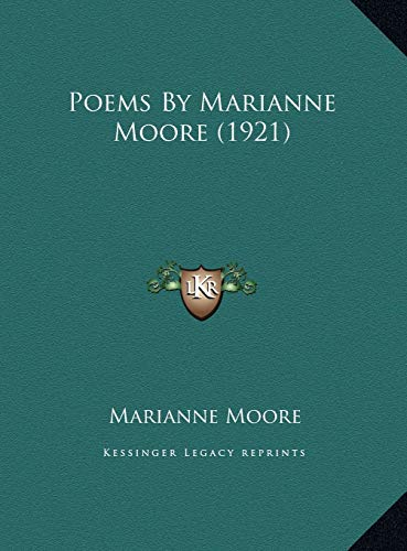 9781169434783: Poems By Marianne Moore (1921)