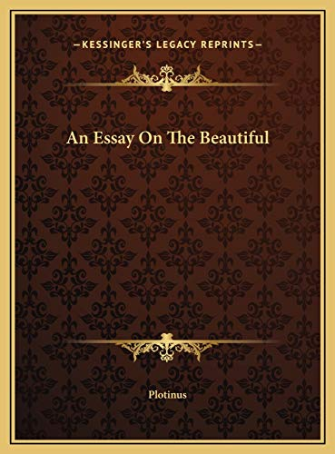 9781169452527: An Essay On The Beautiful