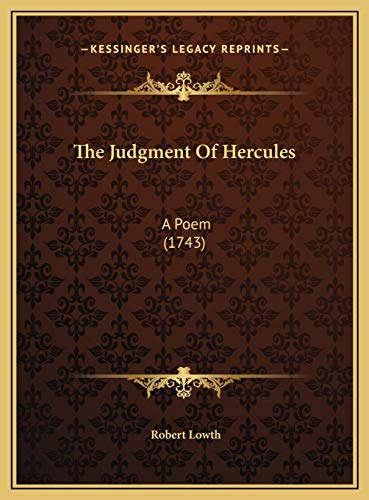 9781169476516: The Judgment Of Hercules: A Poem (1743)