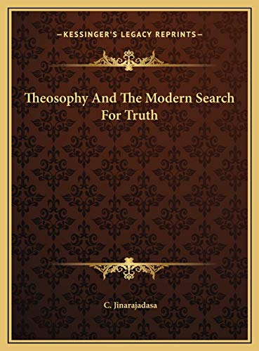 9781169506862: Theosophy And The Modern Search For Truth