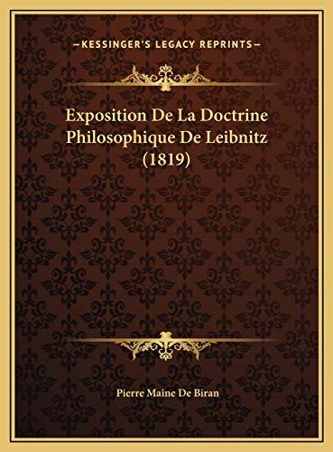 9781169520974: Exposition De La Doctrine Philosophique De Leibnitz (1819) (French Edition)