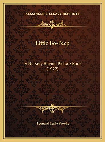 9781169530867: Little Bo-Peep: A Nursery Rhyme Picture Book (1922)
