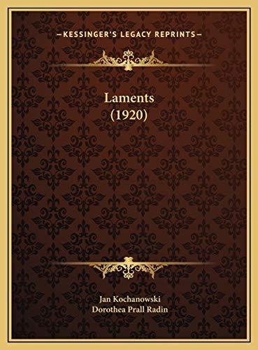9781169539488: Laments (1920)