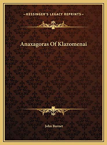9781169550285: Anaxagoras Of Klazomenai