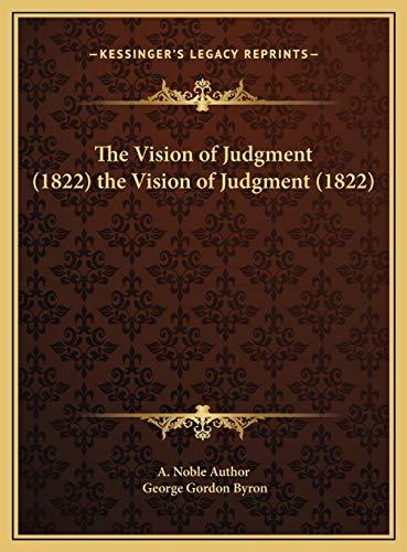 9781169595590: The Vision of Judgment (1822) the Vision of Judgment (1822)
