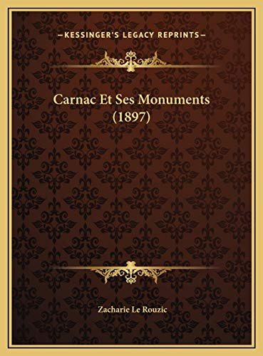 9781169595927: Carnac Et Ses Monuments (1897) (French Edition)