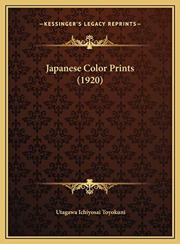 9781169623705: Japanese Color Prints (1920)