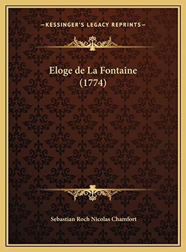 9781169654266: Eloge de La Fontaine (1774)