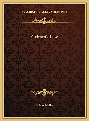 9781169656482: Grimm's Law