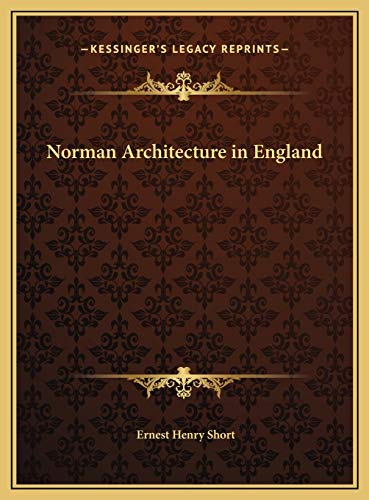 9781169667457: Norman Architecture in England