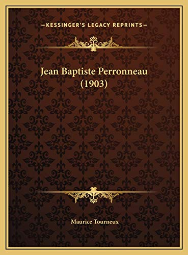 9781169674288: Jean Baptiste Perronneau (1903) (French Edition)