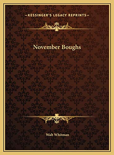 9781169677746: November Boughs