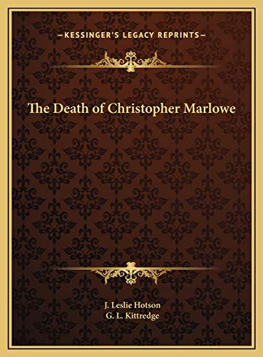9781169681774: The Death of Christopher Marlowe