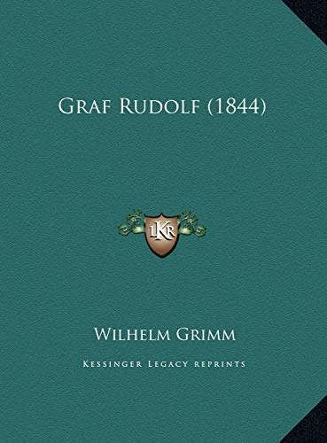 9781169689343: Graf Rudolf (1844) (German Edition)
