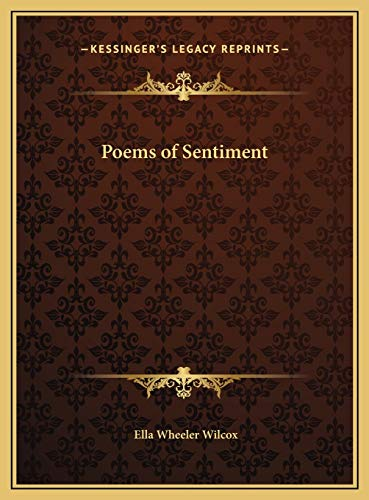 9781169706392: Poems of Sentiment