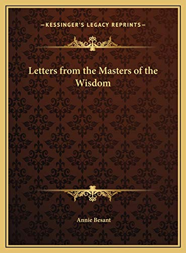 9781169710801: Letters from the Masters of the Wisdom