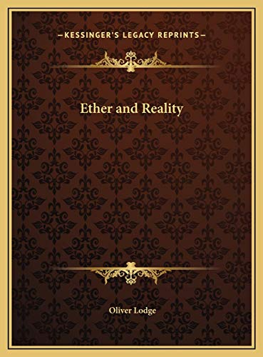 9781169724211: Ether and Reality