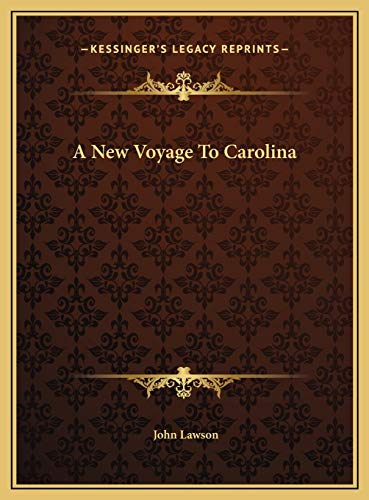 9781169739857: A New Voyage To Carolina