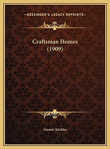 9781169742604: Craftsman Homes (1909)