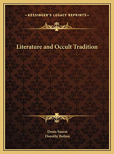 9781169748125: Literature and Occult Tradition