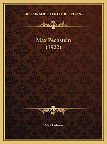 9781169749511: Max Pechstein (1922)