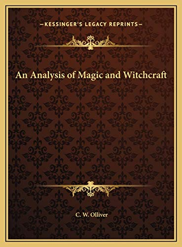 9781169752740: An Analysis of Magic and Witchcraft