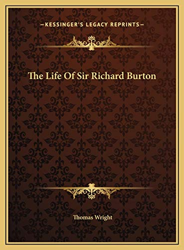 9781169753259: The Life Of Sir Richard Burton