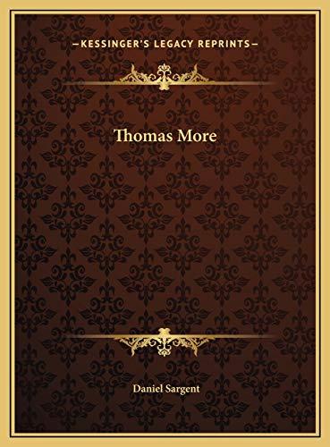 9781169762053: Thomas More