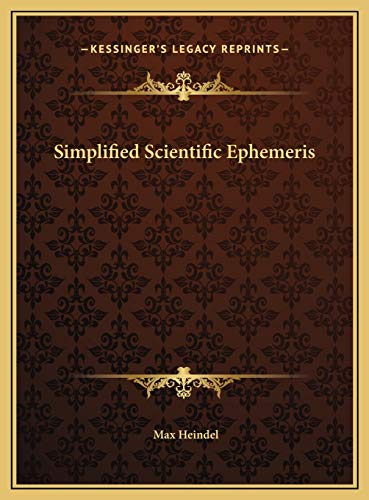 9781169765931: Simplified Scientific Ephemeris