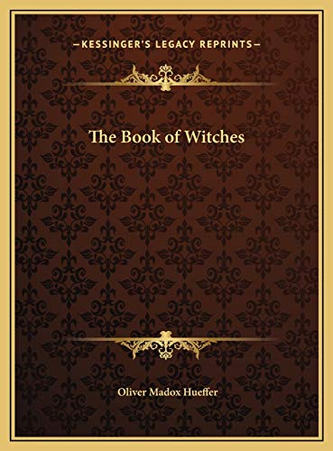 9781169771062: The Book of Witches the Book of Witches