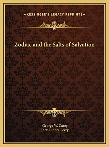 9781169772670: Zodiac and the Salts of Salvation Zodiac and the Salts of Salvation